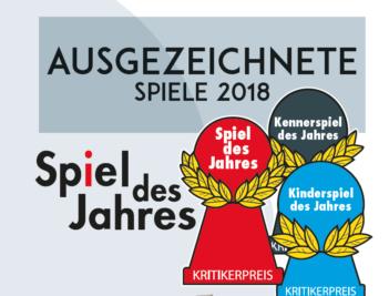 Magazin ausgezeichnete Spiele 2018 von Spiel des Jahres e.V.