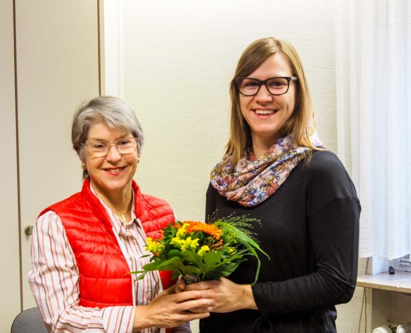 Sigrid Fuhr und Theresa Haas